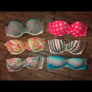 Victoria's Secret Strapless Swim Tops